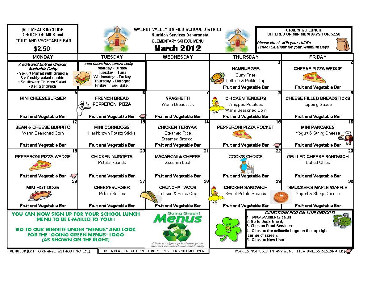 school lunch menu templates koni polycode co
