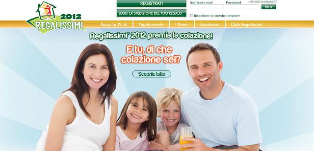 Ferrero raccolta punti 2011 2012: i Regalissimi