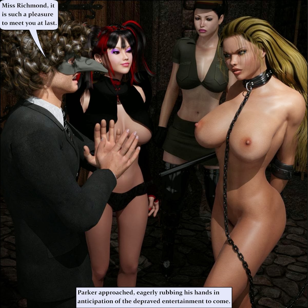 Threesome in the dungeon of minerva