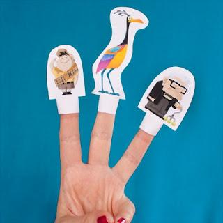 Títeres para los dedos de la película Up.