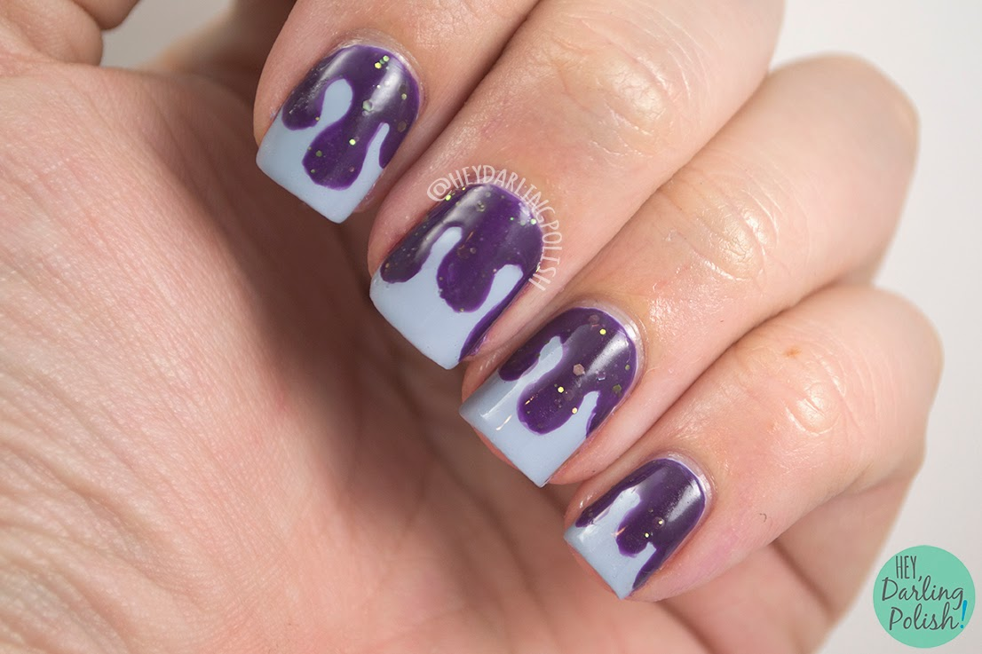 Nails, Nail Art, Nail Polish, Indie, Indie Polish, Purple, Glitter, Blue, Hey Darling Polish, The Never Ending Pile Challenge