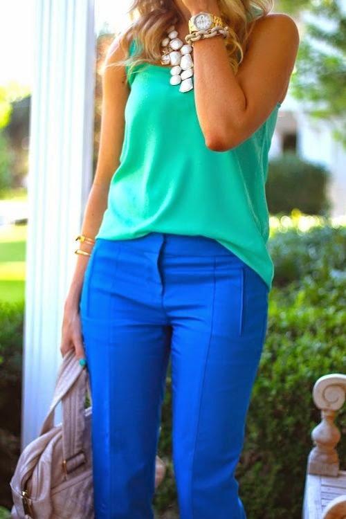 Renkli Pantolon Kombinleri