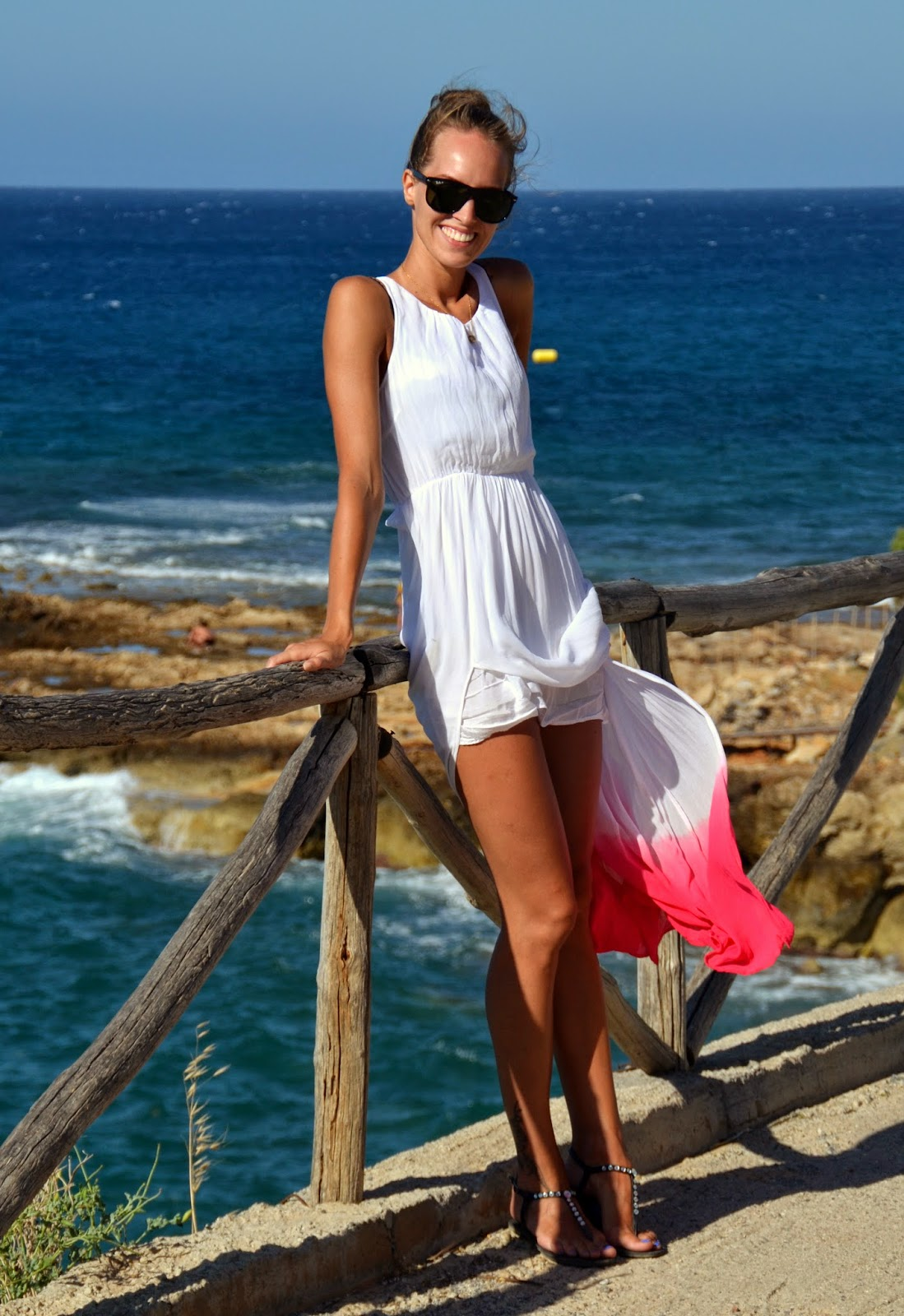 crete hersonissos white maxi dress