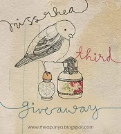 GIVEAWAY: Ms Rhea Third Blogversary