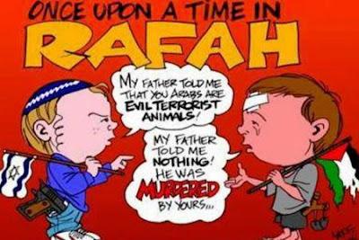 Charge de Carlos Latuff - crianças judia e palestina