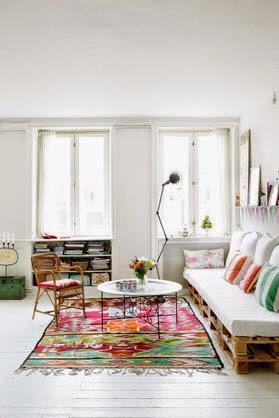 Mobiliario para salones con palets mini espacios dise o - Mobiliario con palets ...