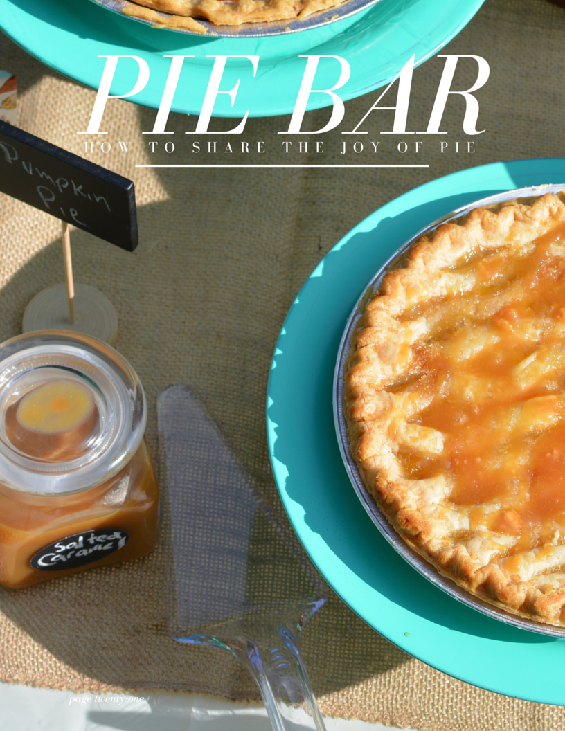 pie bar with Marie Callender's frozen desserts