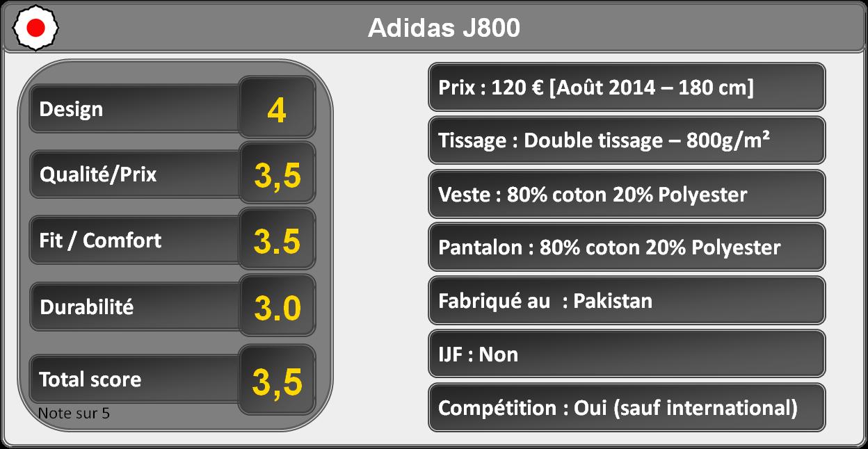 Kimono de judo J800 Adidas