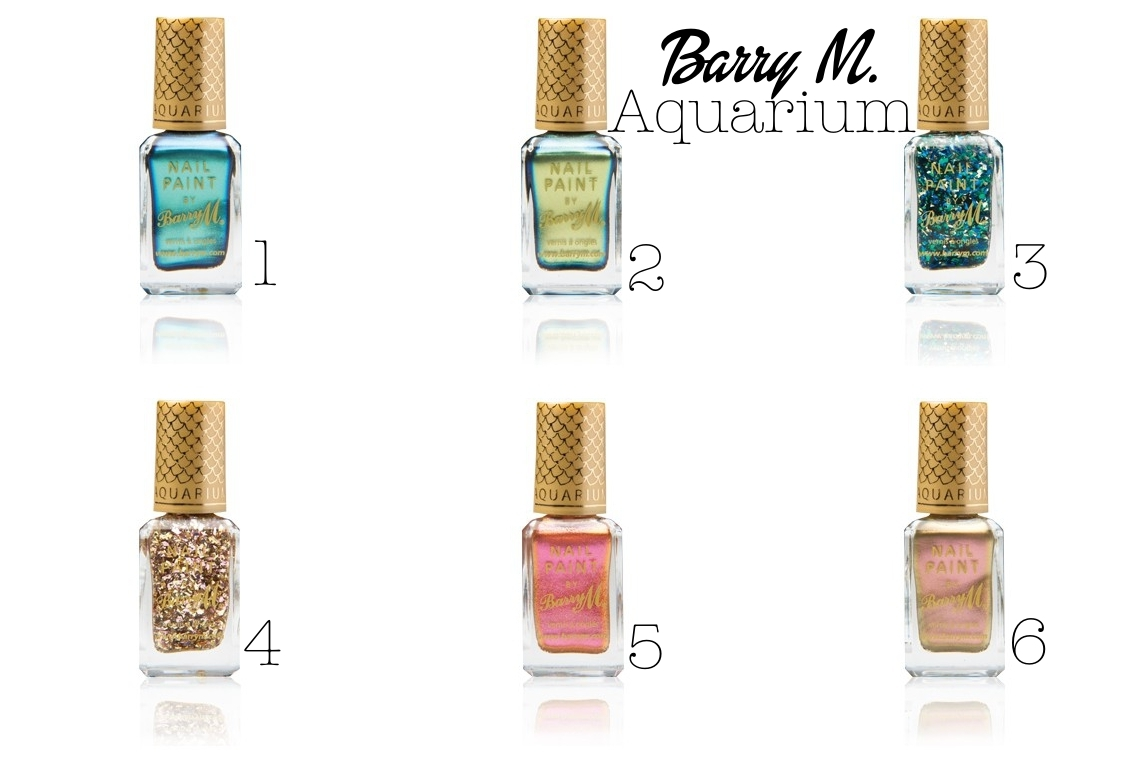 barry m aquarium nail polish collection