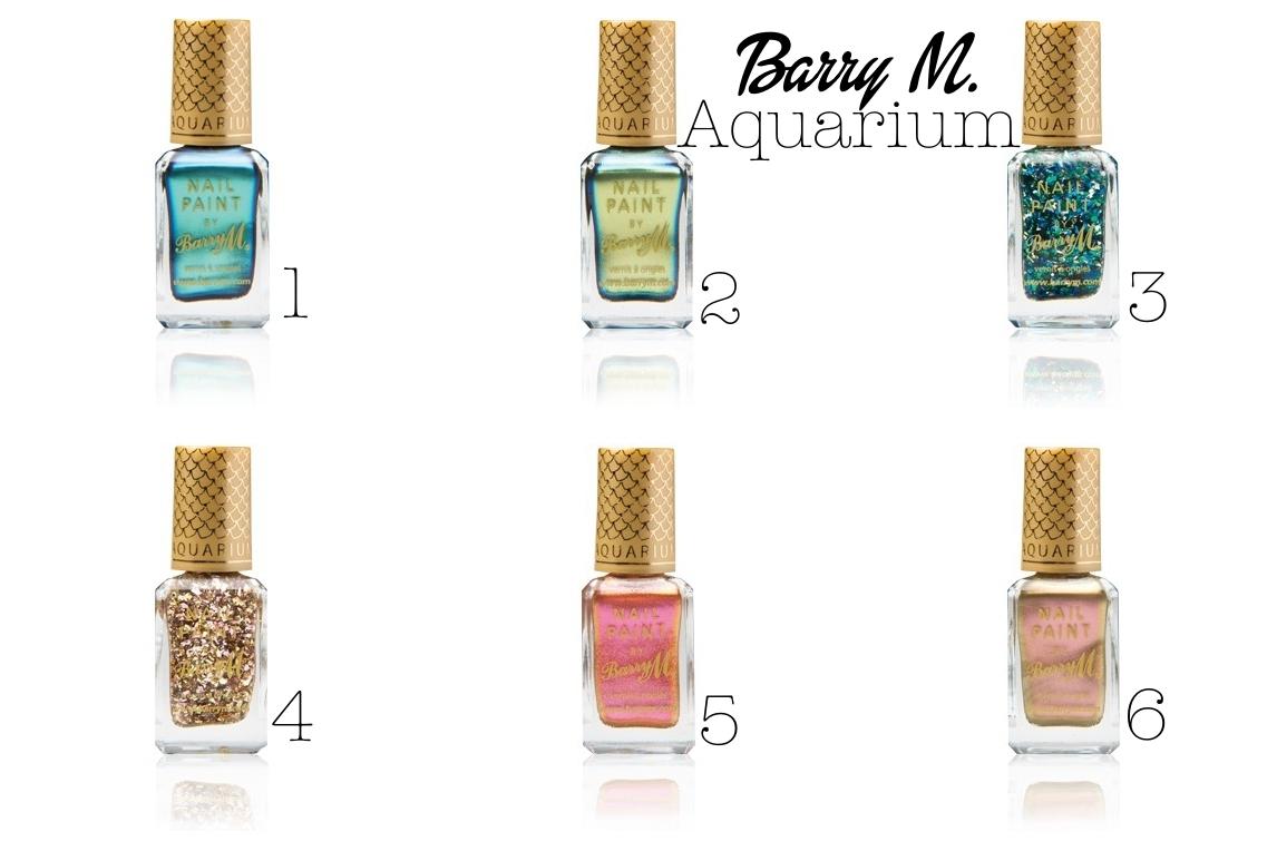 barry m aquarium nail polish collection
