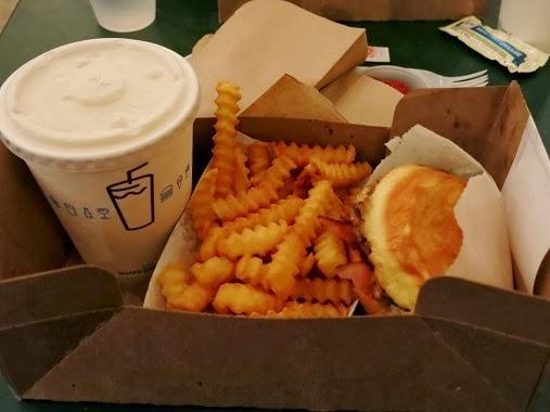 Shake Shack SmokeShack Bacon Burger and fries