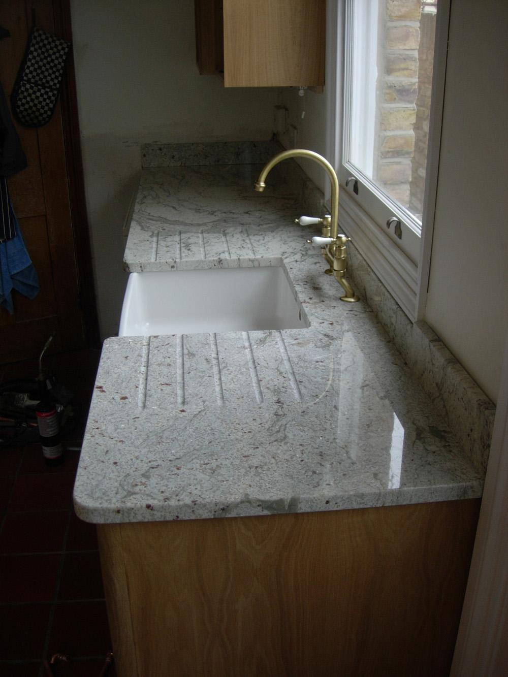 White Granite Kitchen Worktops Blenstone Stone Specialists Kitchen Worktops
