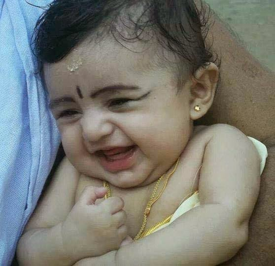 Cute Little Baby Girl Kid Laughing