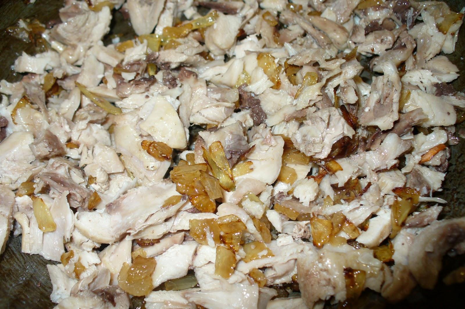 блинчатый пирог куриная начинка с луком