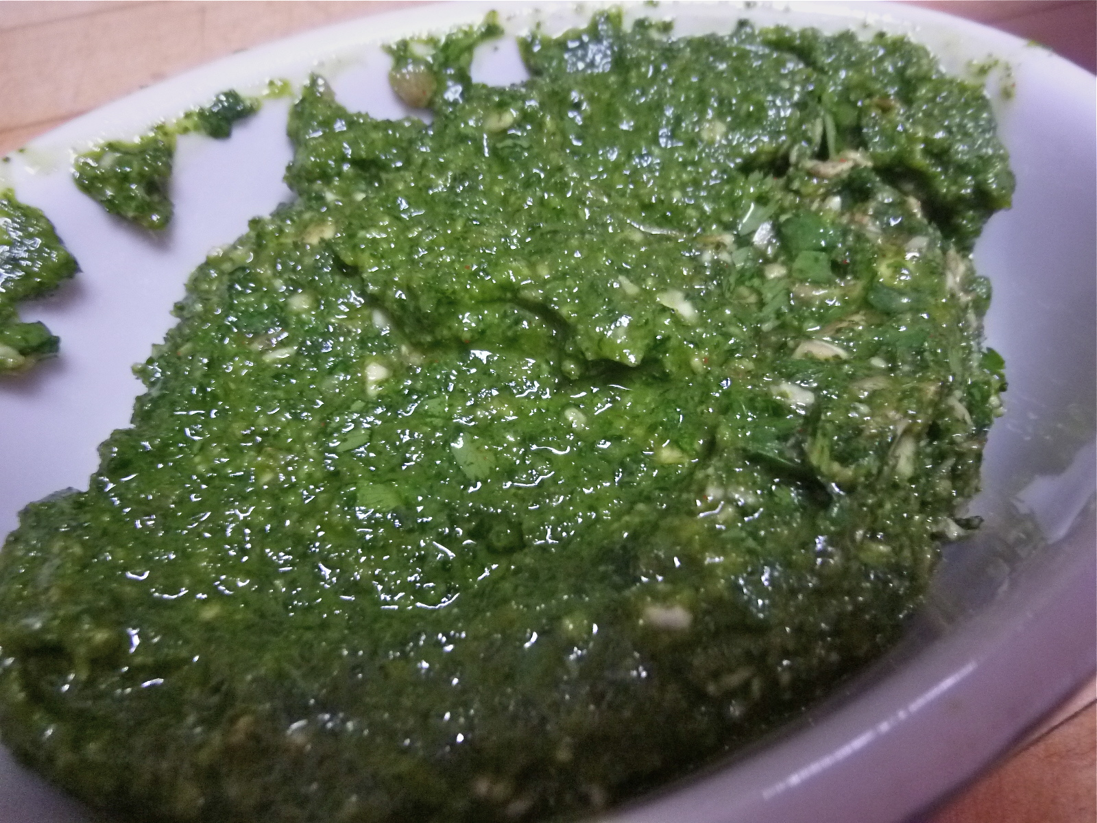 ... pesto mexican fiesta soup with roasted tomatillo and cilantro pesto
