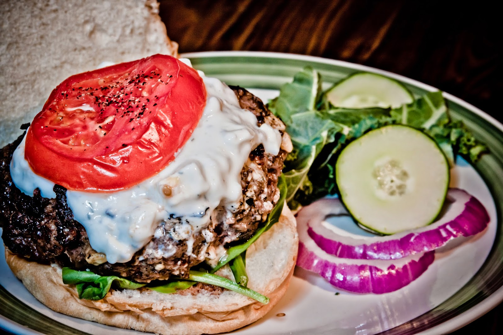 Greek Bison Burger