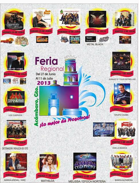 Programa Feria Acámbaro 2013