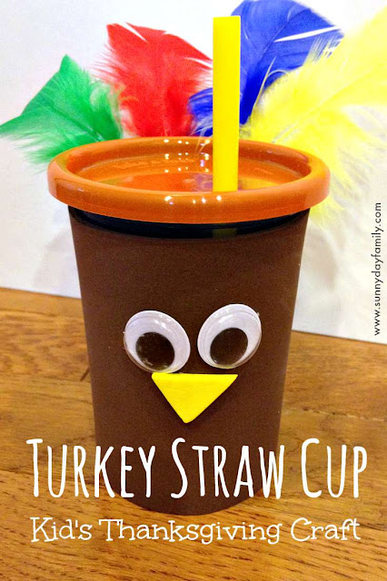 Make a cute cup for your Thanksgiving table with this easy turkey craft for kids!