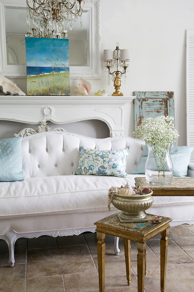 Shabby Chic Beach Pillows : Coastal Style: Shabby Chic Beach Cottage Style