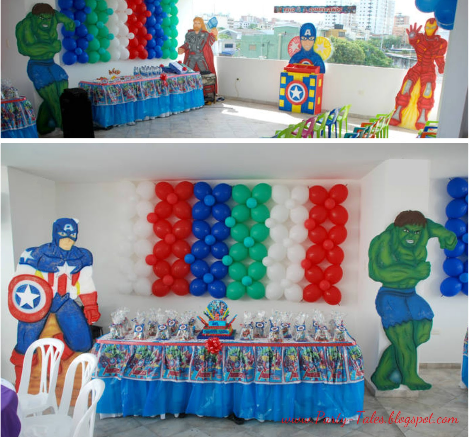 Party tales birthday party the avengers for Decoration ideas