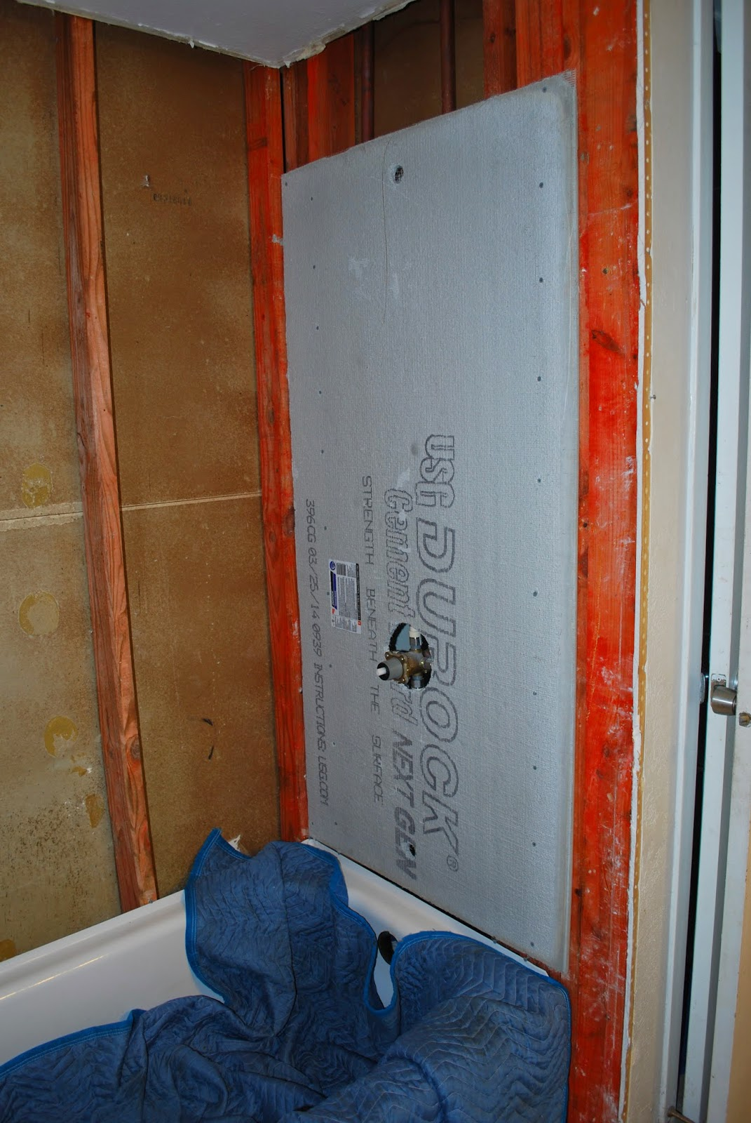protect tub while installing cement board