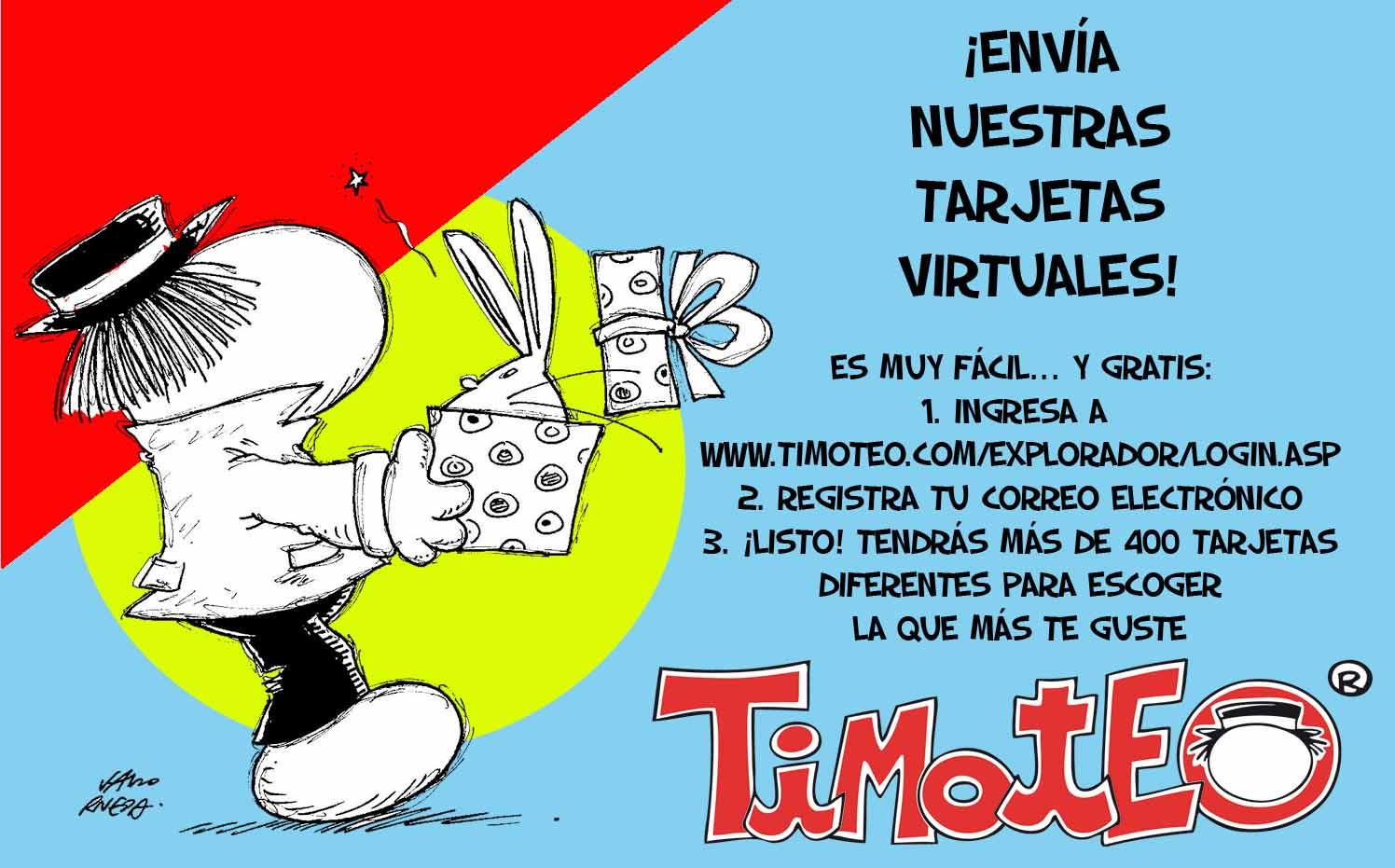 Tarjetas timoteo gratis - Imagui