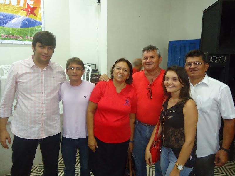 Comitiva do PT de Carnaúba dos dantas participar da posse da nova diretória do P