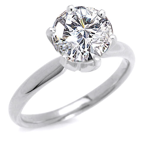 two carat diamond engagement ring