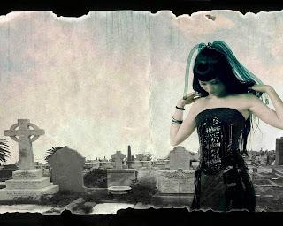 Gothi Girl On Cemetery Dark Gothic Wallpaper