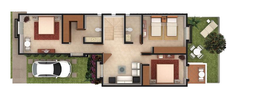 Planos de casas y plantas arquitect nicas de casas y - Modelo de casas de una planta ...
