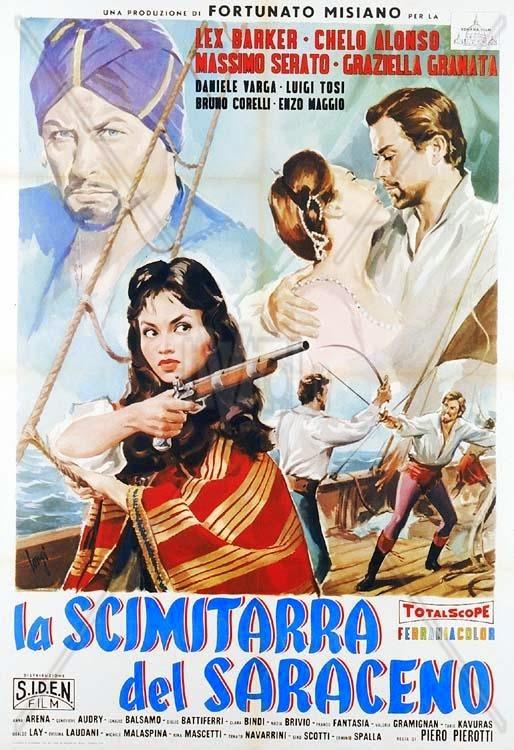La espada del sarraceno [1959] Cartel