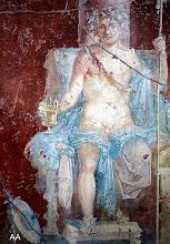 Fresque Bacchus en majesté