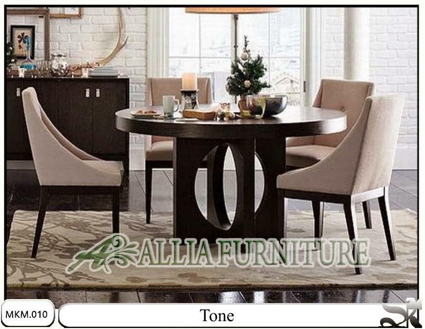 Set minimalis kursi meja makan Tone