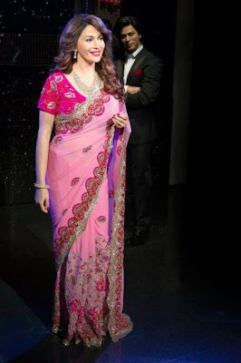 madhuri dixit wax statue at madame tussauds cute stills