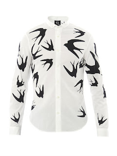 00O00 Menswear Blog: BBC 'The Voice' Mike Ward's McQ Alexander McQueen swallow print shirt