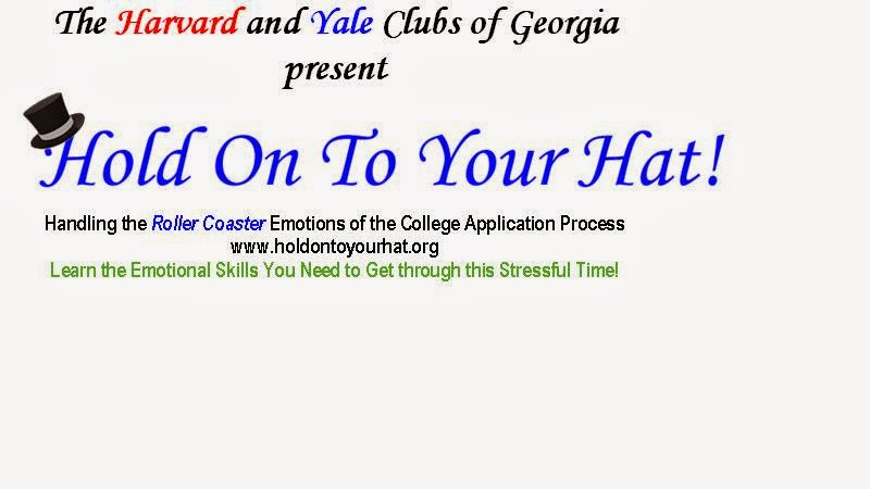 Talk sponsored by Harvard and Yale Clubs of Georgia