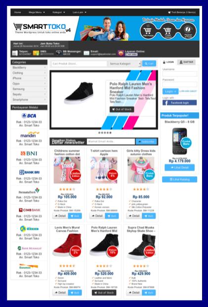 Tema toko online di wordpress