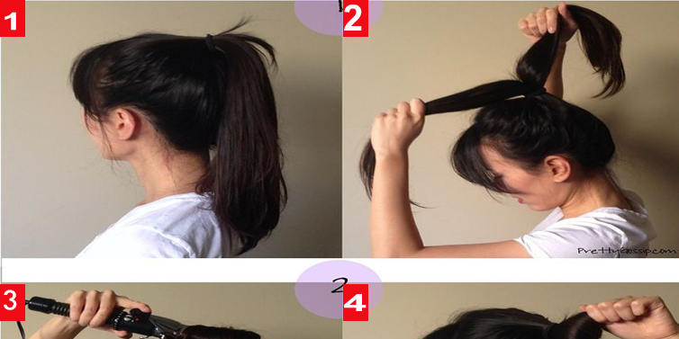 2 min ponytail curling trick hairstyle tutorial emaggy for Accentric salon calgary