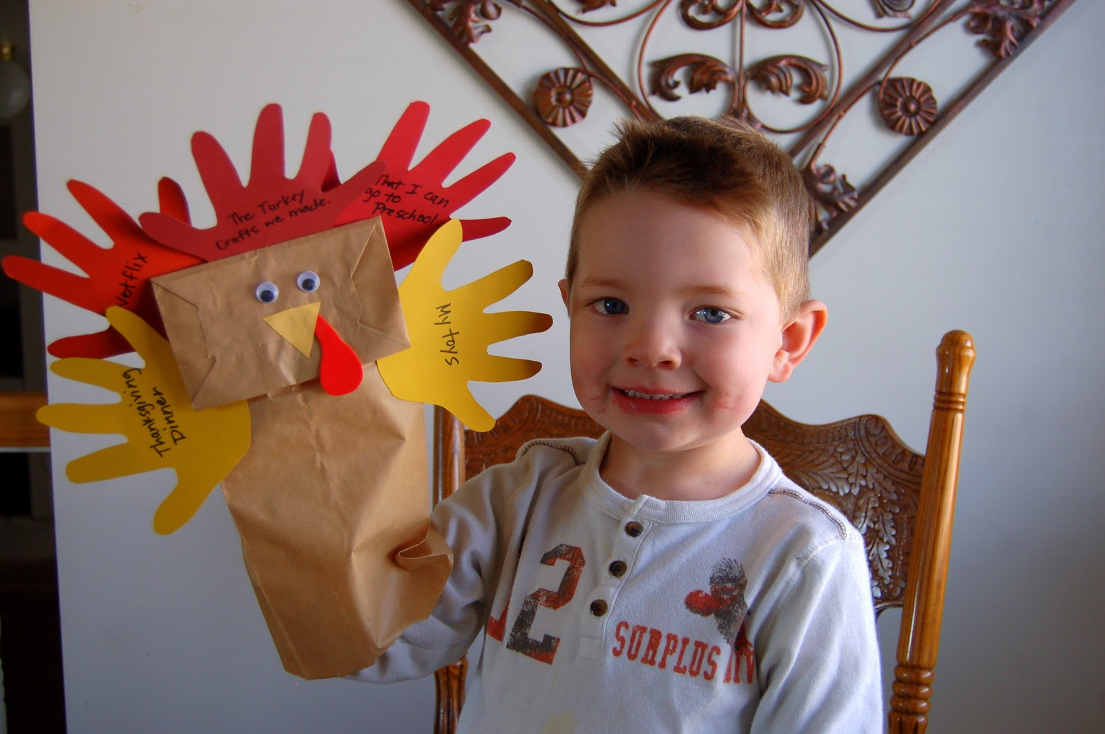 Thankful turkey puppets i heart crafty things for Turkey crafts for first grade