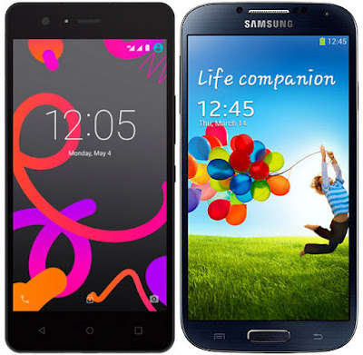 bq Aquaris M5 vs Samsung Galaxy S4