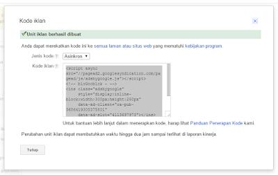 Cara Mudah dan Gampang Memasang Iklan Google Adsense Di blogspot