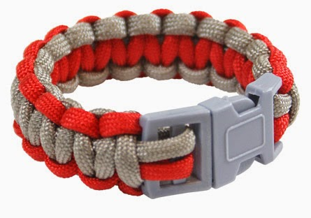 550 Parachute Cord Bracelet - By Pepperell Crafts