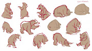 I also did some draw over fixes of my bear drawings from last week: