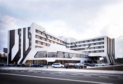 Architecture of sof hotel j mayer h architects and ovotz for Hotel inn design