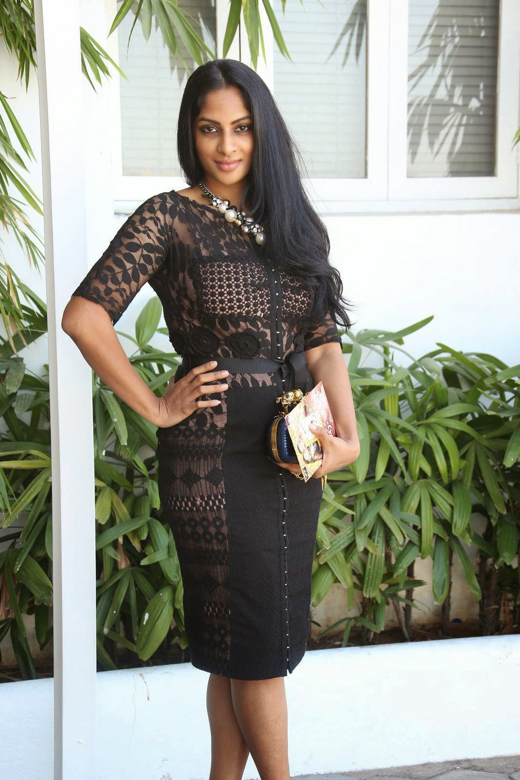 Actress Sriya Reddy Latest Cute Hot Black Mini Skirt Dress Spicy Thighs Show Photos Gallery At Maga Maharaju Audio Launch