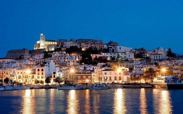 Ibiza Island at Night