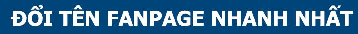 Đổi tên Fanpage