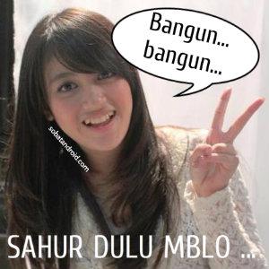 Gambar DP BBM Bergerak Sahur Nabilah JKT48