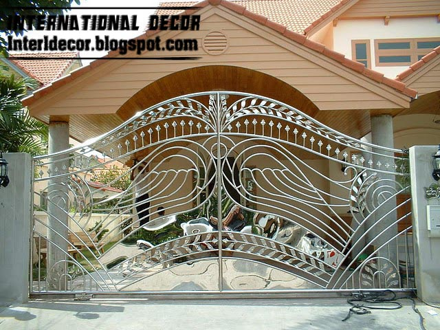 Modern Sliding Iron Gate Design UK Outdoor Sliding Gates For Modern