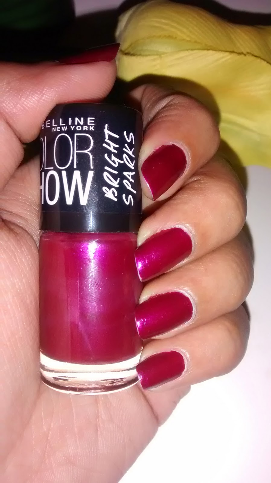 Product Review - Maybelline Color Show Bright Sparks Nail Enamel - Glowing Wine #704